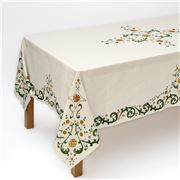 Napking - Floral Rectangular Linen Tablecloth 180x270cm
