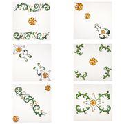 Napking - Floral Linen Napkin Set 6pce