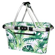 Sachi - Two Handle Carry Basket Jungle Leaf