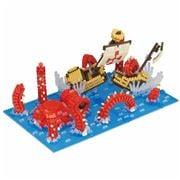 Nanoblocks - Kraken King Of The Sea Model 1890pce