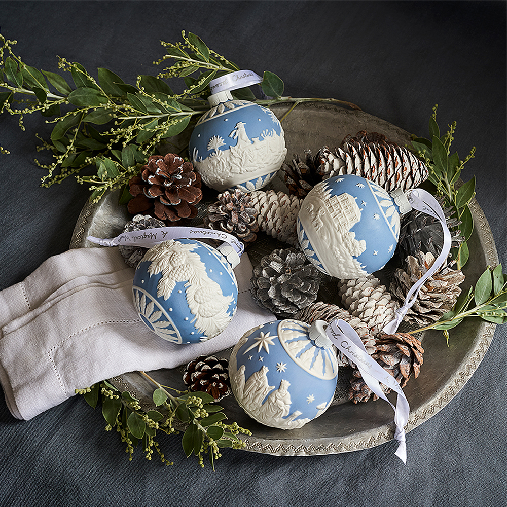Wedgwood Christmas Ornaments 2019.Wedgwood 2019 Nativity Bauble Christmas Ornament Peter S