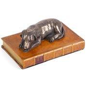 The Original Book Works - Labrador Paperweight Bronze Tan