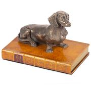 The Original Book Works - Dachshund Paperweight Bronzed Tan