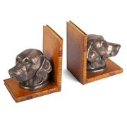 The Original Book Works - Labrador Head Bookends Bronzed Tan