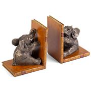 The Original Book Works - Elephant Bookends Bronzed Tan Pair