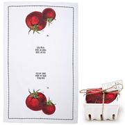 Two's Company - Farm-To-Table Tea Towel In Crate Tomatoes