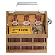 Refinery & Co - Wooden Bottle Caddy With Opener