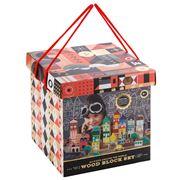 FAO Schwarz - Around the World Wood Block Set 50pce