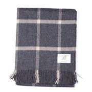 Bronte - Lambswool Massif Charcoal Throw