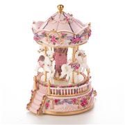 The Russell Collection - Pink Carousel Four Horses w/ Music