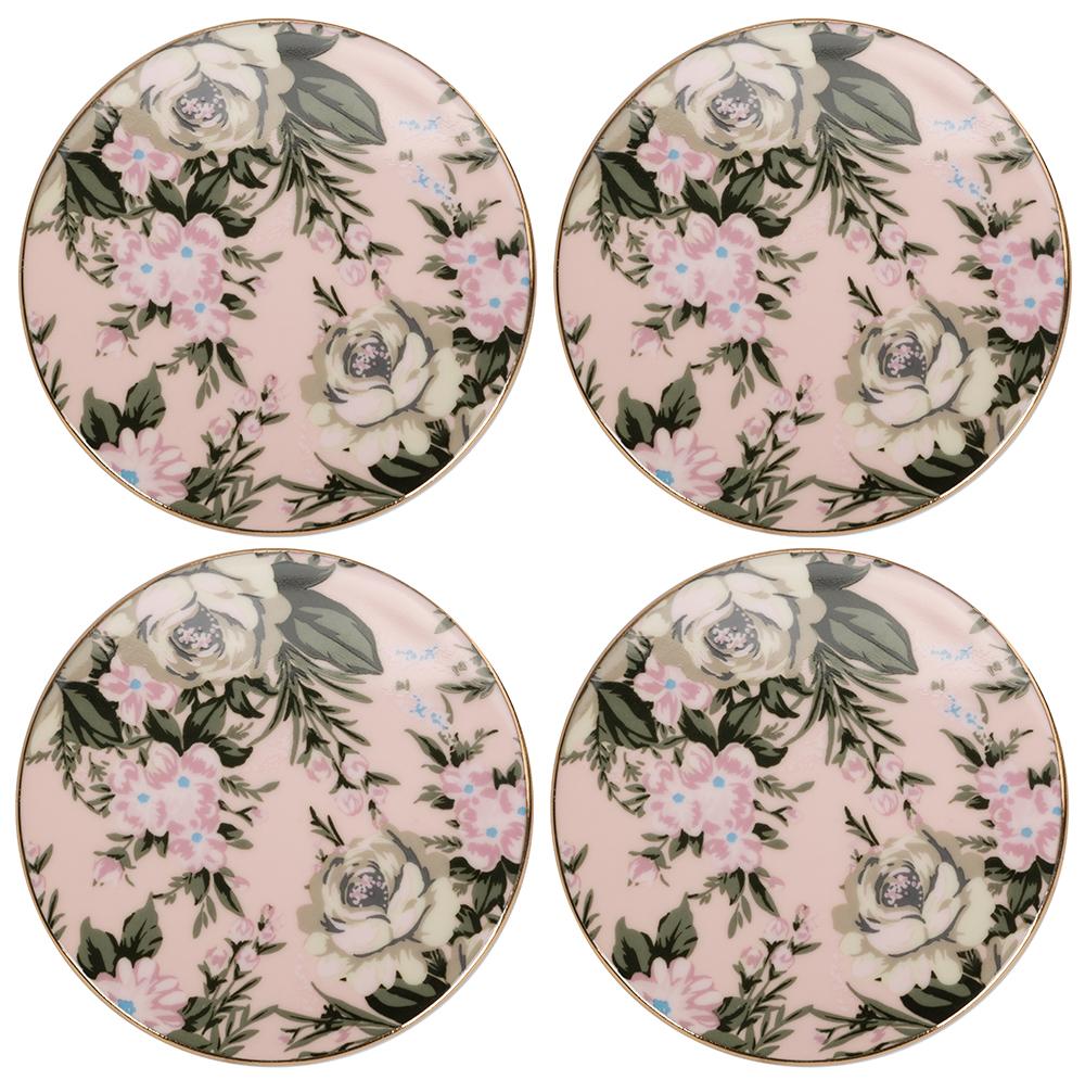 NEW-Cristina-Re-Classique-Belle-De-Fleur-Coaster-Set-4pce