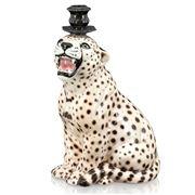 Abhika - Candleholder Cheetah 34cm