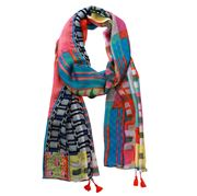 DLUX - Didi digital Print Silk Georgette Wrap With Shell
