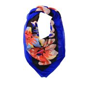 DLUX - Spring Silk Digital Print Square Scarf Royal
