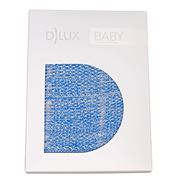 DLUX Baby - Bumble Check Moss Stitch Stroller Blanket Blue