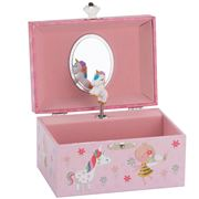 The Russell Collection - Musical Jewellery Box Unicorn