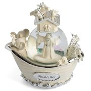 The Russell Collection - Noah's Ark Snow Globe that Rotates