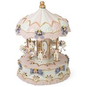 The Russell Collection - Musical Carousel Pink  24.5x32.5cm