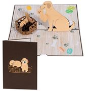 Colorpop - Dog Family Greeting  Card Medium