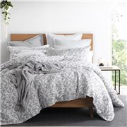 Private Collection - Avery Pewter Quilt Cover Set King 3pce