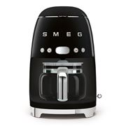 Smeg - Retro Drip Filter Coffee Machine Black DCF02BLAU