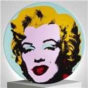 Ligne Blanche - Andy Warhol  Plate Marilyn Blue