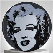 Ligne Blanche - Andy Warhol  Plate Marilyn Black