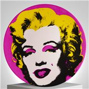 Ligne Blanche - Limoges Andy Warhol Plate Marilyn  Pink
