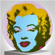 Ligne Blanche - Limoges Andy Warhol Plate  Marilyn Purple