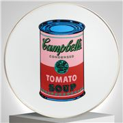 Ligne Blanche - limoges Andy Warhol  plate Campbell's Pink