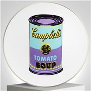 Ligne Blanche - Limoges Andy Warhol Plate Campbell's Purple
