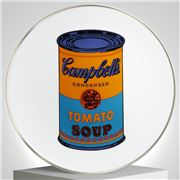Ligne Blanche - Andy Warhol  Plate Campbell's Blue