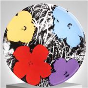 Ligne Blanche - Andy Warhol Plate  Flower Purple