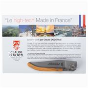 Claude Dozorme - Laguiole Liner Lock Pocket Knife Big Size