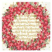 Marimekko - Cynthia Wreath Cream Lunch Napkins 20pce