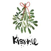 Paper Products Design - Kiss Me Mistletoes Lunch Napkin 20pk