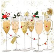 Paper Products Design - Champagne Glasses Lunch Napkin 20pk