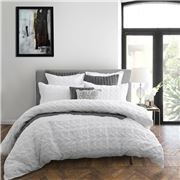 Private Collection - Upton White Quilt Cover Set Queen 3pce