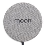 Moon - Ultra Slim Wireless Charger Grey Fabric