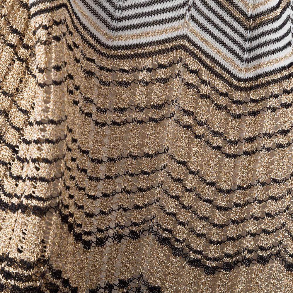 NEW Missoni Knitted Black /& Gold Scarf Medium