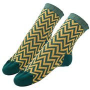 Missoni - Calza Corta Socks Green & Yellow Diamond Medium
