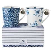 Laura Ashley - Blueprint Mugs Sweet Alyssum/China Rose 2pce