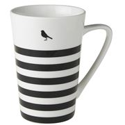 Dutch Rose - Black Stripe Bird Mug XL 430ml