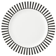Dutch Rose - White Plate Stripe Border 18cm