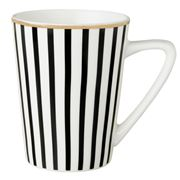 Dutch Rose - Black Stripe Mug Golden Rim  310ml