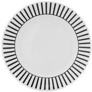 Dutch Rose - Plate w/Black Striped Border Golden Edges 18cm
