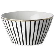 Dutch Rose - Bowl with Black Stripe and Golden Edges 14cm