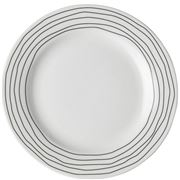 Dutch Rose - Plate  With  Black Line Border 18cm