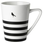 Dutch Rose - Black Stripe Bird Mug 310ml