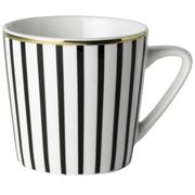 Dutch Rose - Black Stripe Mug Golden Rim Mini 200ml